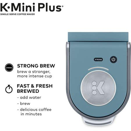 Simply set it up, turn it on, and brew. Keurig K-Mini Plus Coffee Maker, Single Serve K-Cup Pod Coffee Brewer, Comes With 6 to 12 Oz ...