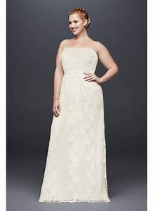 linear lace sheath plus size wedding dress davids bridal With plus size sheath wedding dress