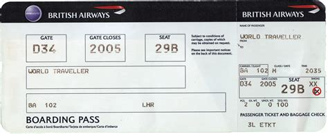 airline boarding pass ticket template examples