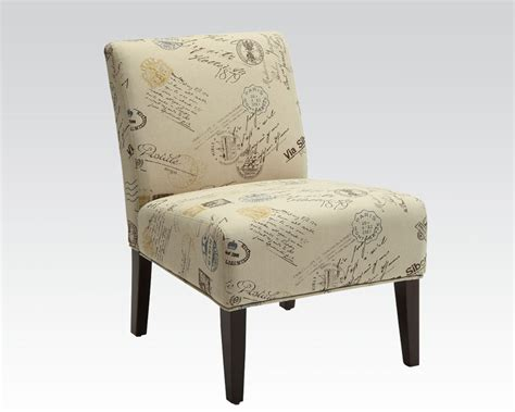 fabric accent chair in contemporary style by acme