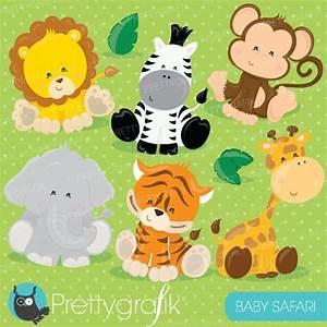 Baby safari animals clipart | Mygrafico Illustrations ...