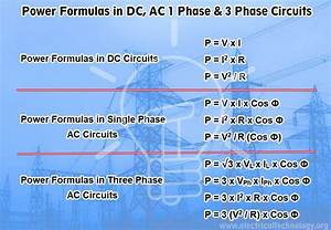 Three Phase Power Equation Derivation