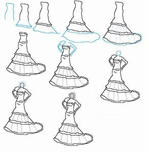 17 best images about fashion design sketches on pinterest With how to draw a wedding dress