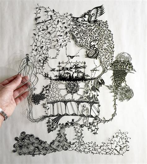 mandala paper cutting template japanese artist hand cuts insanely detailed paper art