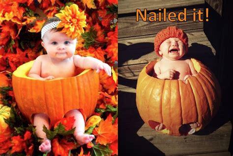 nailed  pinterest fail newborn pumpkin photography