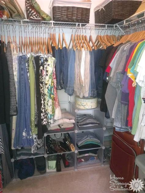 declutter  closet hanging clothes