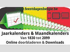 Kalender 2018 Jaarkalender Belgie Verlengde Weekends