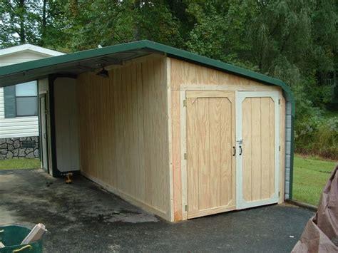 enclosed carport ideas enclosing a metal carport questions doityourself