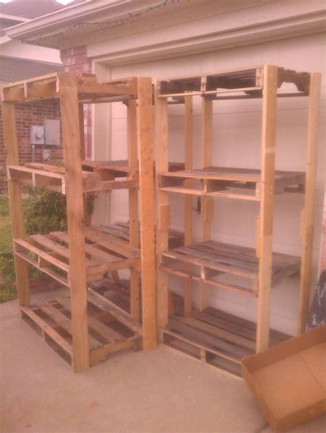 pallet shelves   garage ryobi nation projects