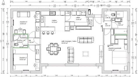 plans maisons plain pied 3 chambres amazing plan maison plein pied images about plan on