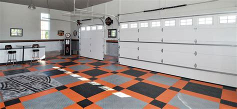 Harley Davidson Orange or Black Tile by RaceDeck