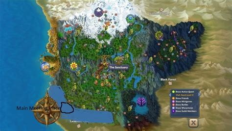 Free Realms Description And Comments Image Free Realms Map Jpg Free Realms Warrior Cats Wiki