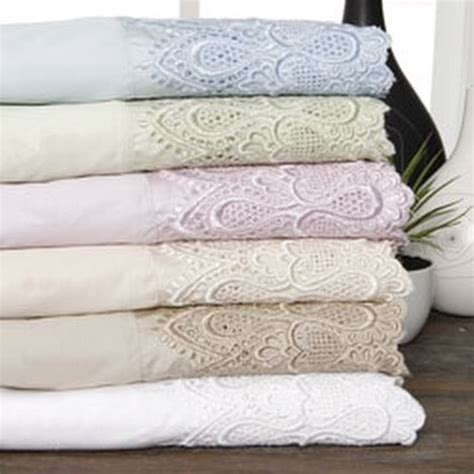 600 thread count lace cotton blend sheet set ebay