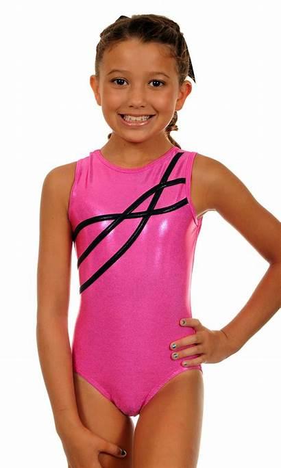 Leotard Pink Leotards Gymnastics Sparkle Child Young
