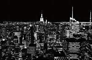 New York City Skyline At Night Photograph by Dan Sproul