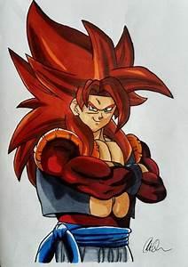 My drawing of Super Saiyan 4 Gogeta | DragonBallZ Amino