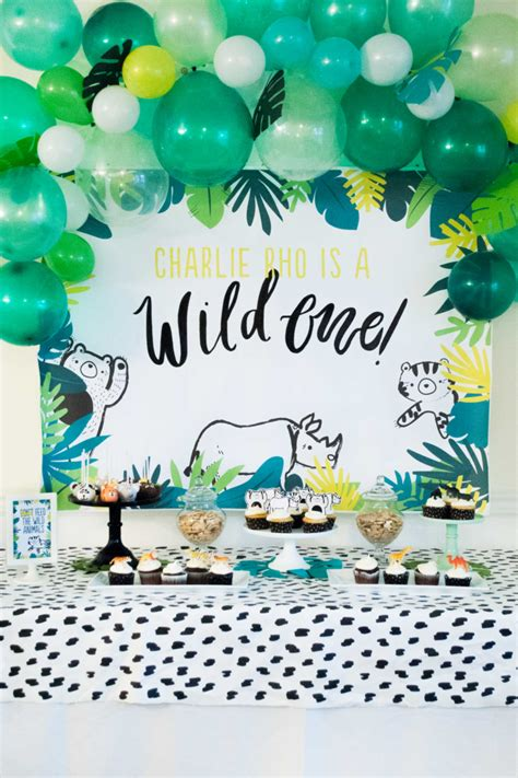 Modern Wild One First Birthday Party  Itsy Belleitsy Belle