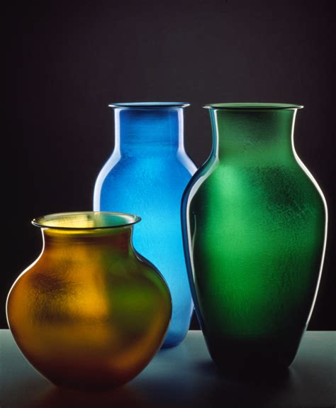 Colorful Vases by Josh Contemporary Glass Colorful Iridescent Glass
