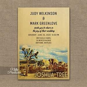joshua tree wedding invitation printed nifty printables With joshua tree wedding invitations