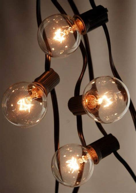 globe string lights black wire 25 ft 25 socket