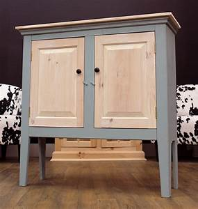 Persian Blue and Whitewash Water Based Stain Cabinet