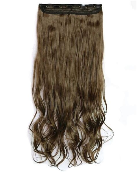 28inch 140g 5clips Long Curly Wavy Clip In Hair Extensions