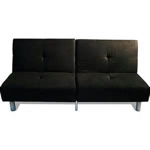 walmart studio futon sofa bed and lounger black furniture