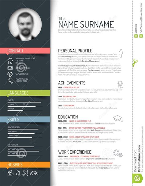 cv resume template from 42 million high