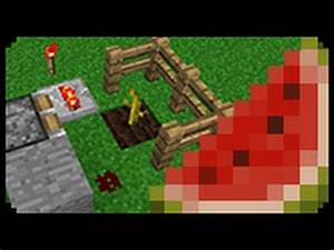 Minecraft: How to make an Automatic Melon Harvester - YouTube