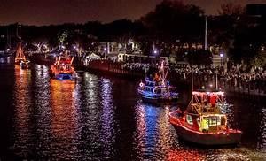 Christmas Lights Boat Parade - Christmas Lights Card and