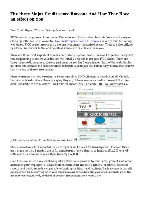 three bureau credit report free credit report from all 3 bureaushtml