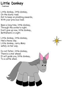 donkey christmas poem scoilnet