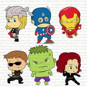Baby Avengers Clip Art Set Avengers Heroes Clipart by ...