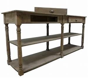 Table De Drapier : table de drapier meuble de rangement ancien console 2 tiroirs 2 etageres 170cm vintage pinterest ~ Teatrodelosmanantiales.com Idées de Décoration