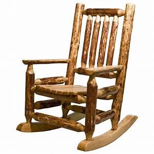 Glacier Rustic Child's Rocking Chair - Rustic Log