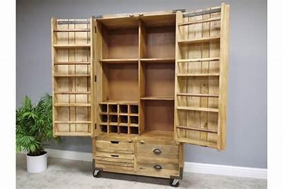 Rustic Cabinet Drinks Pantry Wood Wooden Industrial