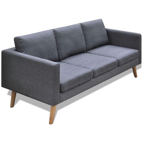 canap 3 places tissu gris la boutique en ligne canapé 3 places en tissu gris foncé