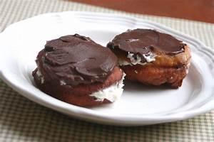 Chocolate Cream Filled Vanilla Sugar Doughnuts Recipe ...