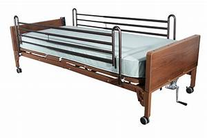Full Electric Bed with Full Rails and Innerspring Mattress