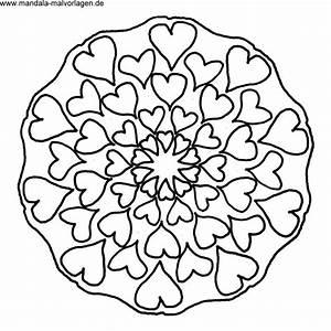 Herzen Zum Ausmalen : free mandala herzen malvorlage zum ausdrucken basteln ~ Buech-reservation.com Haus und Dekorationen