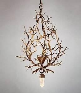 Hervé Van Der Straeten : a chandelier with huge rock crystal drop by herve van der ~ Melissatoandfro.com Idées de Décoration