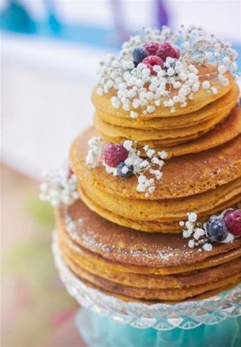 sweet  yummy pancake wedding cakes weddingomania