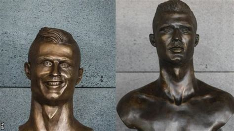 mocked ronaldo bronze statue replaced st lucia news