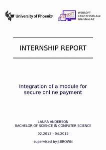 Writing A Successful Internship Report