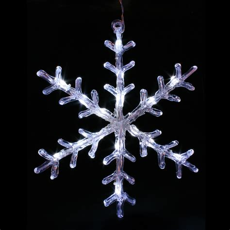 white led acrylic snowflake