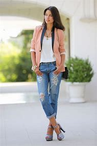 Casual Blazer and Jeans Outfit
