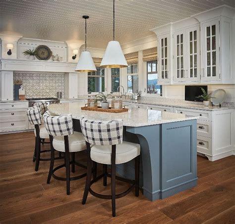 blue grey kitchen island gorgeous lakehouse kitchen with