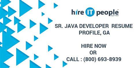 sr java developer resume profile ga hire  people