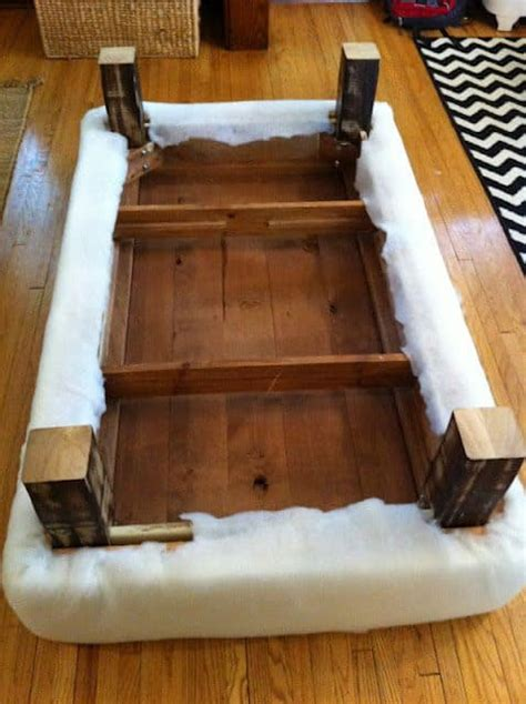 How To Make An Ottoman Out Of A Table by How To Turn A Coffee Table Into An Ottoman