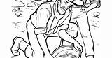 Gold Rush Methods Draw Panning Miners Looking Simple sketch template